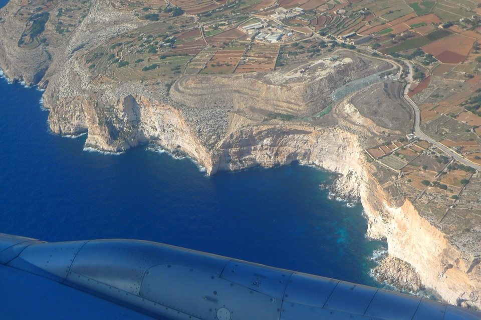 Aerial View of Dingli Cliffs, Malta
