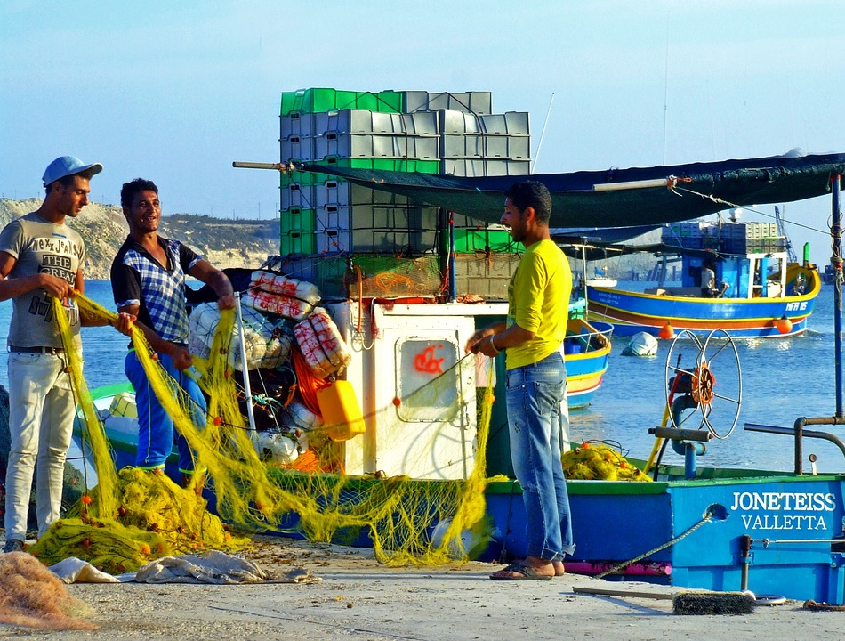 Fishermen in Marsaxlokk